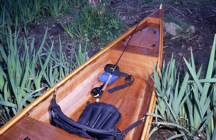 Strong sturdy canoe for fishing from