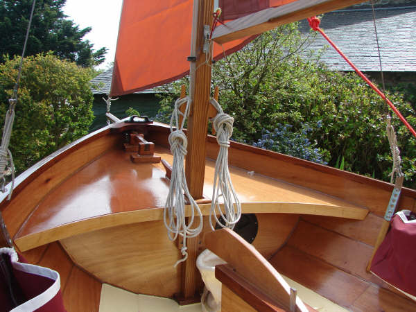 Bowsprit on a sailing dinghy Fyne Four