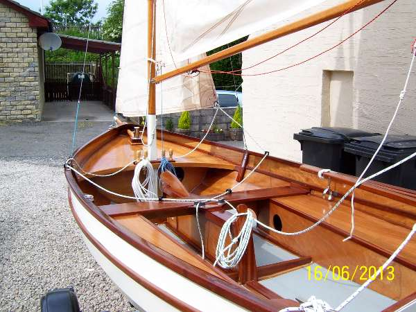 Fyne Four lightweight clinker sailing dinghy