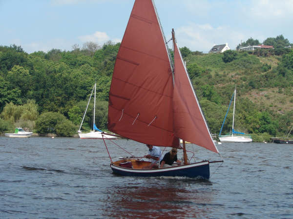 Sails for a clinker sailing dinghy with bowsprit built from a Fyne boat kit