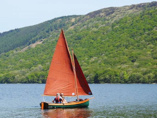 Fyne Four wooden sailing boat launched on Coniston Water
