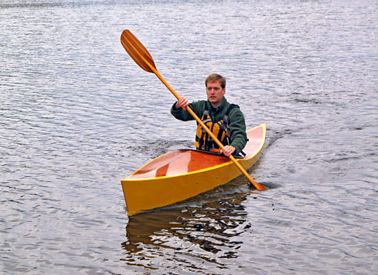 Ganymede is a simple, easy to build recreational wooden kayak