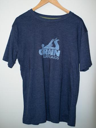 Grain Surfboards logo t-shirt - men's blue