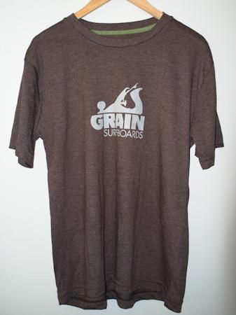 Grain Surfboards logo t-shirt - men's brown