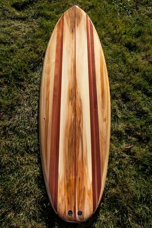 Channel Islands Biscuit wooden surfboard