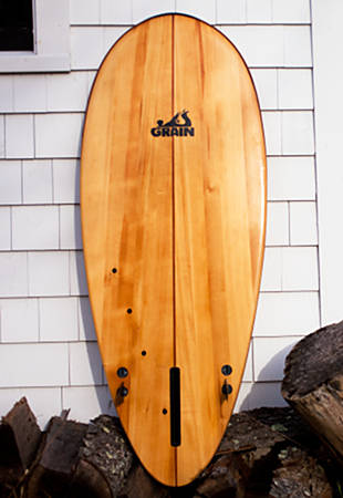 Leaf hollow wooden Paipo surfboard
