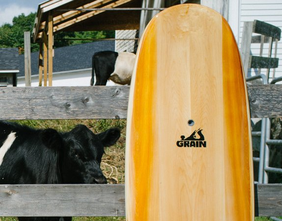 Mr Simmons hollow wooden surfboard