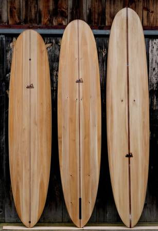 Root hollow wooden surfboard