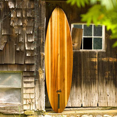 Seed hollow wooden surfboard