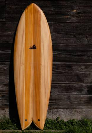 Waka hollow wooden surfboard