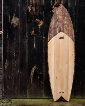 Wherry hollow wooden surfboard