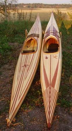 Guillemot cedar-strip sea kayak