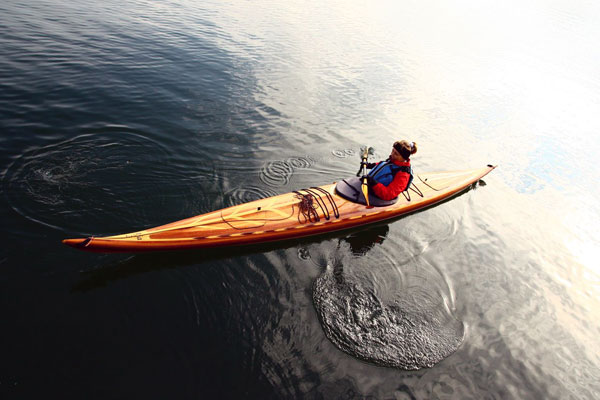 Performance cedar strip Guillemot sea kayak