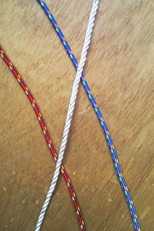 Rope for sailing boat halyards