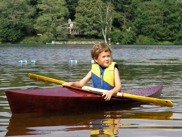 A simple and fun child's kayak that can be built over the course of a weekend or two