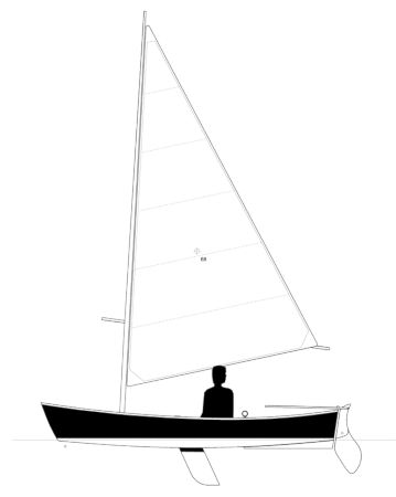The Jimmy Skiff II has a larger sail area than the original and is even more fun to sail