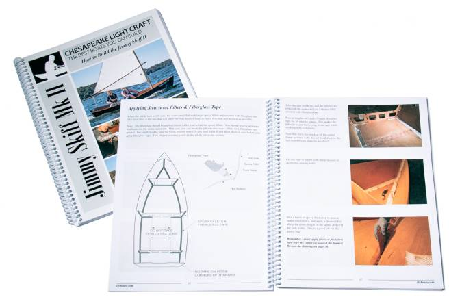 The instruction manual that accompanies the Jimmy Skiff II wooden boat kit is comprehensive in detail and shows full colour photos of every step