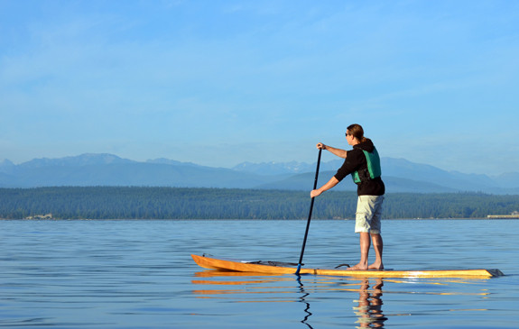Kaholo 14 wooden SUP - stand-up paddleboard