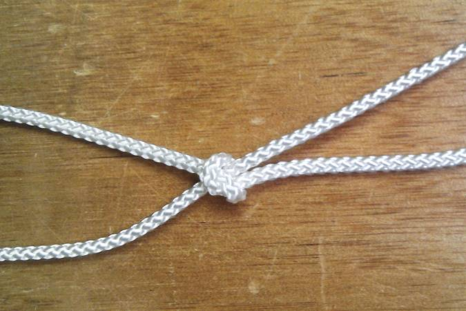 Rope for lacing a sail to a mast, yard or boom