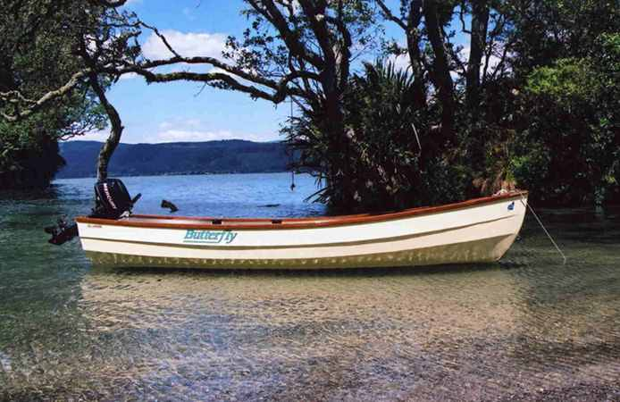 Plans or kit for a wooden motor boat or canoe from Fyne Boat Kits