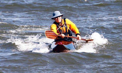 Matunuck wooden surf kayak