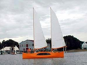 Sailing a proa built from a kit