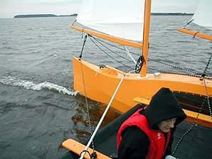 High speed sailing in a proa built from a kit