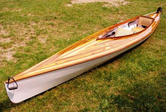 Mill Creek sea kayak with an attractive cedar strip deck