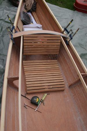 Building a wooden kayak traditional seats from Chesapeake Light Craft