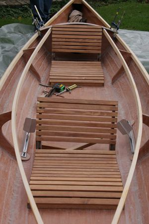 Building a wooden kayak traditional seats from Fyne Boat Kits