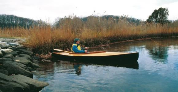 Fishing canoe that is light enough to carry a long way