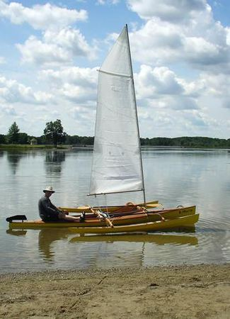 Canoe sailing outriggers from Fyne Boat Kits