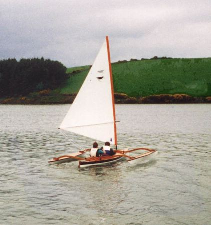 High performances are possible from these sailing canoe outrigger floats