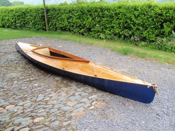 Paddling a home made wooden kayak from Fyne Boat Kits