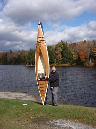 A very light but attractive sea kayak that is built in four days