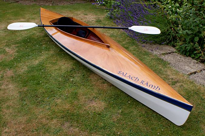 The Mill Creek 13 is a solo recreational wooden kayak built from a kit