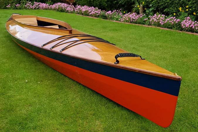 The Mill Creek 16.5 has the style of a traditional decked wooden canoe