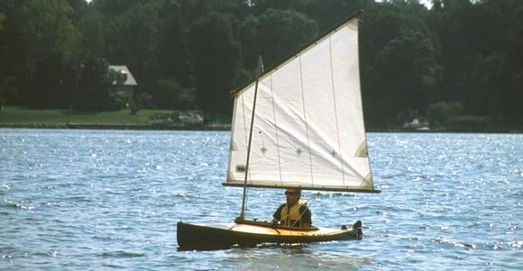 Sailing a Mill Creek canoe