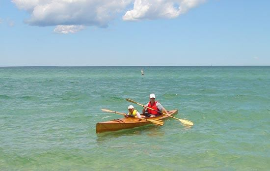 Fyne Boat Kits kayak for venturing out into the sea