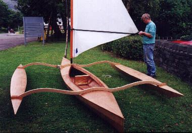 Installing sailing outriggers on a canoe