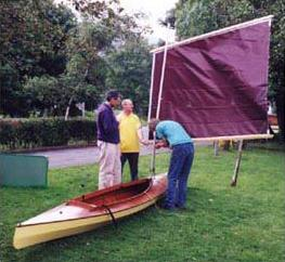 An easy to build versatile kayak that can be sailed or rowed or paddled