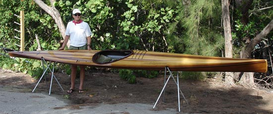 Mystery Bootlegger cedar-strip racing sea kayak