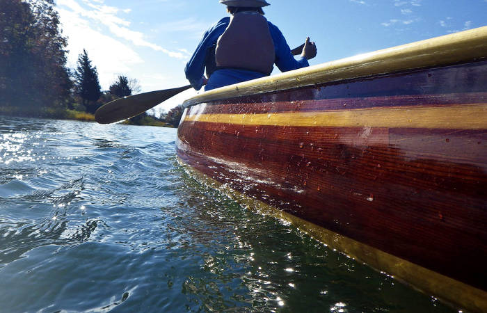 A comfortable and efficient river canoe designed by Nick Schade
