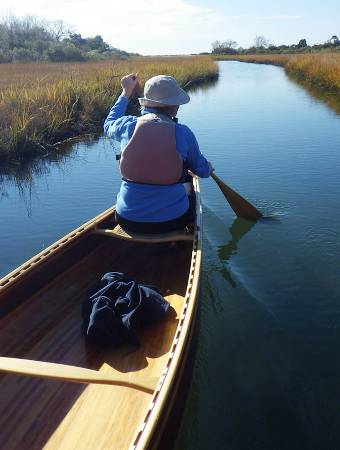 The comfortable tandem Mystic River canoe designed by Nick Schade