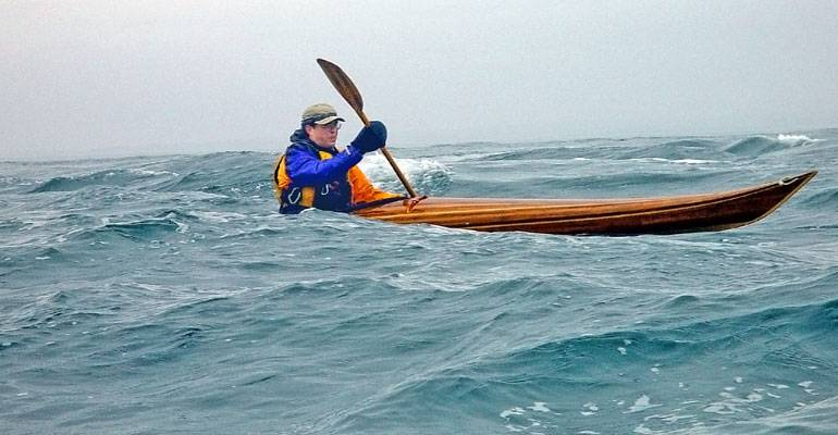 Night Heron cedar strip sea kayak