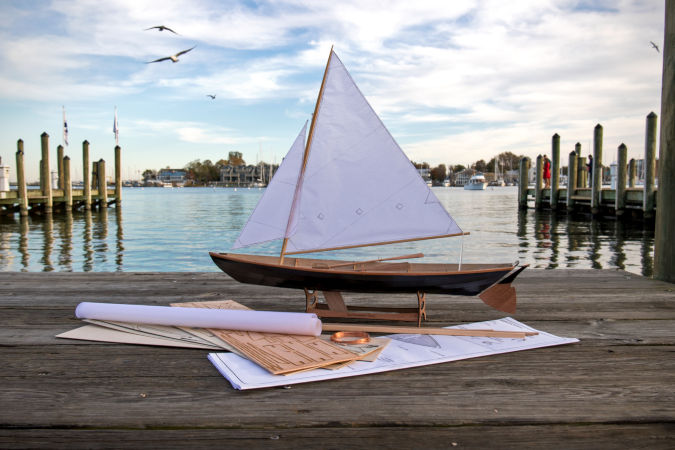 Kit contents for the scale model of the Northeaster Dory