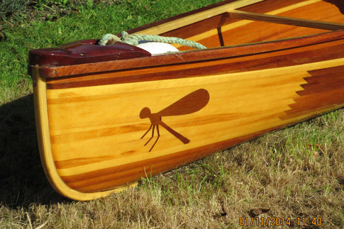 Design your own creative strip plank pattern when building the Nymph canoe