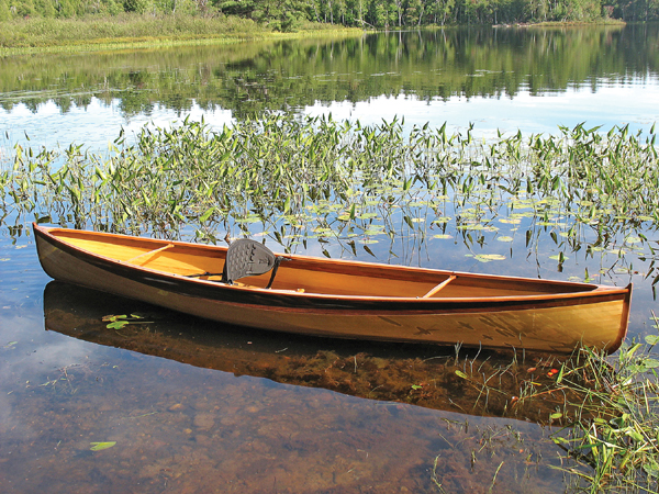 Minimalist Cedar strip open canoe - Nymph