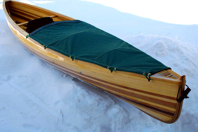 The ultralight strip-planked solo pack canoe, Nymph
