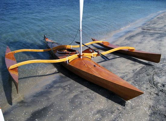 Kayak sailing outriggers